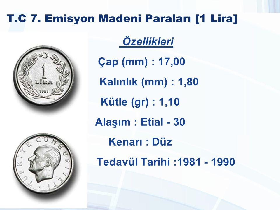 T.C 7. Emisyon Madeni Paraları [1 Lira]